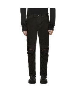 Julius | Coated Slit Knees Jeans
