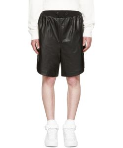Giuliano Fujiwara | Leather Basket Shorts