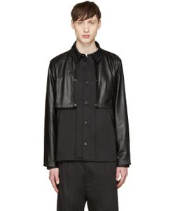 Giuliano Fujiwara | Twill And Leather Cape Shirt