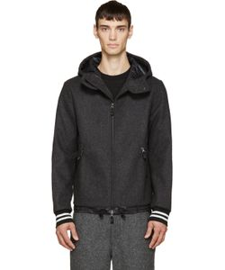 Giuliano Fujiwara | Grey Wool Hooded Jacket