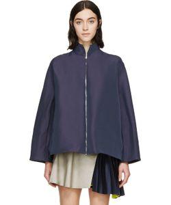 Thomas Tait | Navy Boxy Zip-Up Jacket