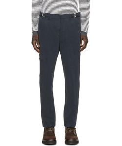Umit Benan | Navy Cotton Work Trousers