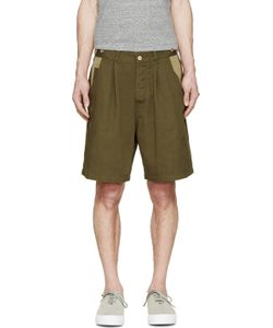 Undecorated Man | Olive And Twill Field Shorts