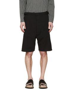 Siki Im | Black Seersucker Shorts