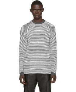 Umit Benan | Black And White Striped Supergeelong Sweater