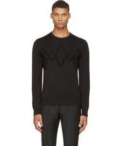 Kris Van Assche | Black Diamond Appliqué Sweater