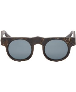 e364e6c9a6 Rigards - Black Round Horn Sunglasses