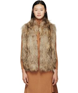 Meteo By Yves Salomon | Beige Knit Fur Vest