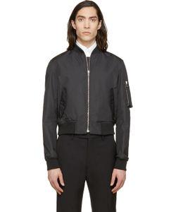Kris Van Assche | Black Cropped Bomber Jacket