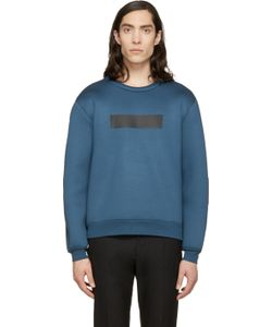 Kris Van Assche | Ssense Exclusive Blue Painted Stripe Sweatshirt