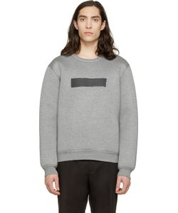 Kris Van Assche | Grey Painted Stripe Sweatshirt