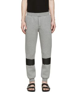 Kris Van Assche | Grey Painted Stripe Lounge Pants