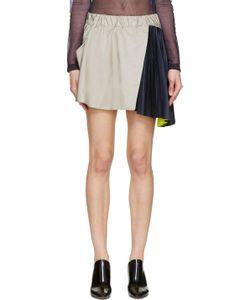 Thomas Tait | Grey Taffeta And Satin Memory Skirt