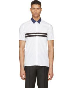 Kris Van Assche | White Contrast Collar Shirt