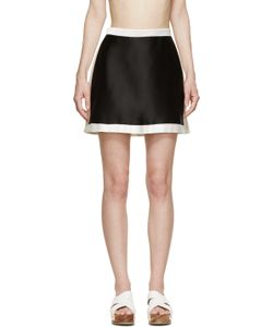 Osklen Praia | And White Satin Skirt