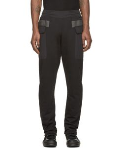 Silent Damir Doma | Black Paneled Pocket Plejona Lounge Pants