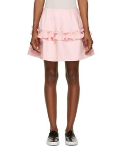 Simone Rocha X J Brand | Ruffled Denim Skirt