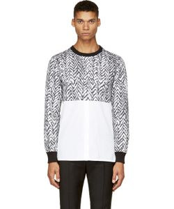 Kris Van Assche | Ssense Exclusive Black And White Chevron Hybrid Shirt