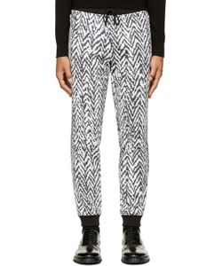 Kris Van Assche | Black And White Chevron Lounge Pants