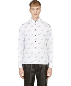 Kris Van Assche | White Paisley Pattern Button Down Shirt