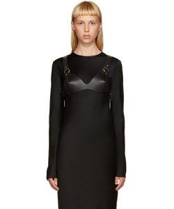 Fleet Ilya | Black Leather O-Ring Bra