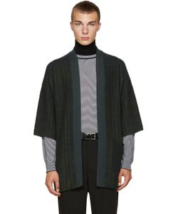 Curieux | Green Patchwork Noragi Cardigan