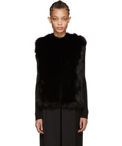 Meteo By Yves Salomon | Black Fox Fur Vest