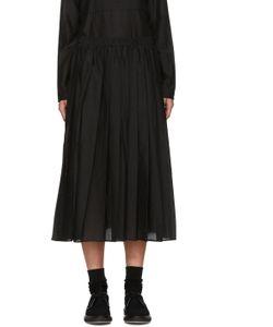 Sara Lanzi | Black Pleated Muslin Skirt