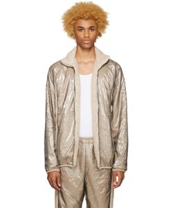 Cottweiler | Beige Layered Glaze Track Jacket