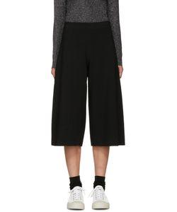 Sara Lanzi | Black Stretch-Crepe Culottes