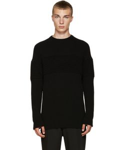 Curieux | Cashmere Ripple Panel Pullover