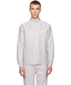 Phoebe English | Grey And White Striped Shirt