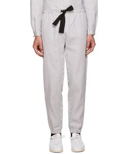Phoebe English | Grey And White Striped Lounge Pants