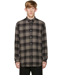 Robert Geller   Grey Plaid Dress Shirt
