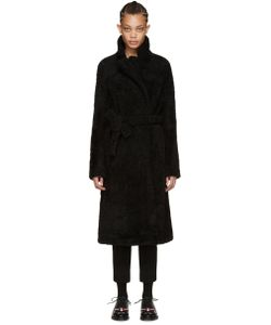 Meteo By Yves Salomon | Black Shearling Coat