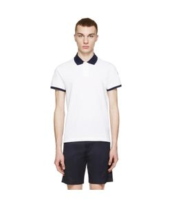 Moncler | White Contrast Collar Polo