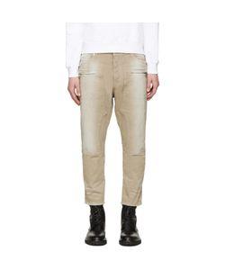 Balmain   Tan Cropped Jeans