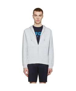 Kenzo | Grey Embroidered Tiger Hoodie