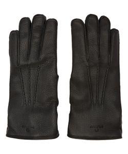 Belstaff   Black Leather Buckle Gloves
