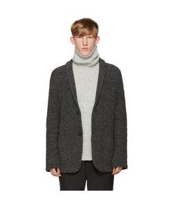 Robert Geller   Grey Knit Richard Jacket