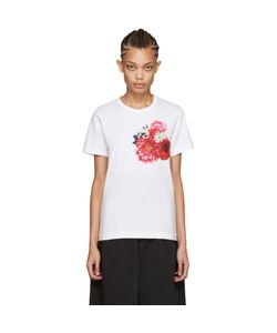 Comme Des Garçons   White Flower T-Shirt