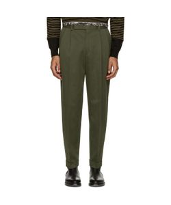 Paul Smith | Green Pleated Trousers