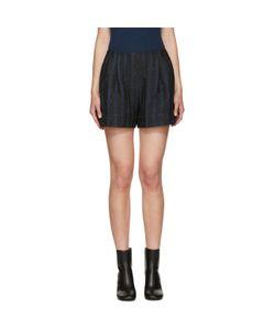 3.1 Phillip Lim   Black And Navy Jacquard Shorts