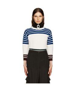 Raf Simons | White Wool Stripes Sweater
