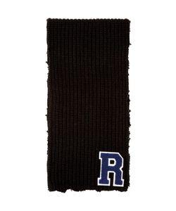 Raf Simons | Black Wool Logo Scarf