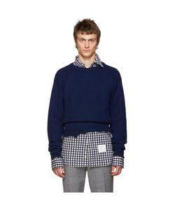 Raf Simons | Navy Wool Destroyed Sweater