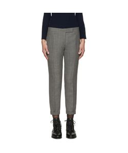 Thom Browne   Grey Wool Skinny Trousers