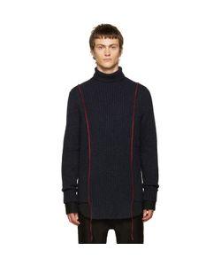 Yang Li   Navy Wool Turtleneck