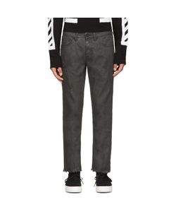 Off-White | Black Cropped Coated Jeans