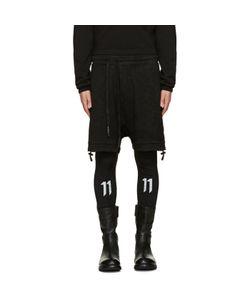 11 By Boris Bidjan Saberi | Black Asymmetric Lounge Shorts
